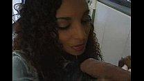 ebony blowjob in the kitchen Thumbnail