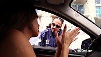 Policeman Fucks Sexy Shemale Ass