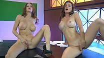 Screenshot Emily Addiso n & Heather Vandeven - Naked News