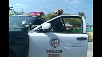 Female officer fucking in shiny latex lingerie Thumbnail