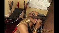 Horny Ebony Girl Riding And Sucking Black Dick