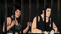 Archer Hentai - Jail sex with Lana
