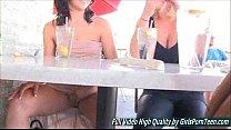 Porn teen Soraya fingers pussy public brunette صورة