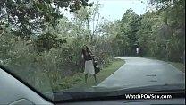 Backseat love with Latina stranger