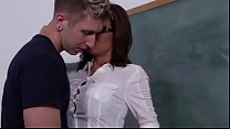 Additional lesson with his big boobs sexy teacher thumbnail