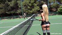 Dani Daniels Topless Tennis Fun