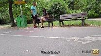 Hunt4K. Cuckold watches how his girlfriend fucks for money in park