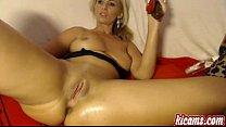 Insanely Hot Estonian Girl fingers her juicy pussy - kicams.com's Thumb