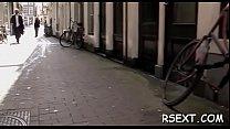 Gorgeous amsterdam hooker rides a large hard 10-pounder passionately