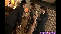 Mei Haruka Asian Chick Gets Banged Hard In A Rowdy Threesome