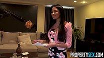 PropertySex - Virgin fucks insane hot French real estate agent with big natural boobs thumbnail