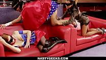 Horny slut Wonder Fuck starts a threesome - download porn videos