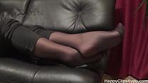 Stockinged Footplay By Mom