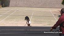 Big tit black tennis babe blows cock Preview