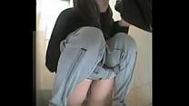 Beautiful lady in hidden toilet camera in Rusia