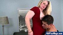 chubby blonde divorcee and her hunk pornhub video