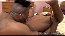 Big booty eb ony gets deeply pumped in black porn parody