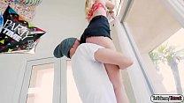 Teen Kenzie Kai riding a huge dick porn image