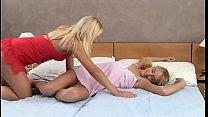 2 girls fondle their gf