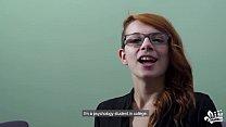 CASTING FRANCAIS - Naughty Canadian redhead teen banged hard in audition bang