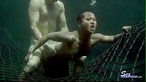 Underwater anal sex