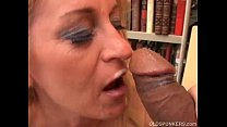 Gorgeous cougar in stockings loves to fuck porn image