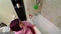Son Guilt Trips Mom Into Sponge Bath - 69VClub.Com