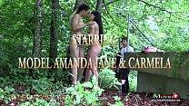 Gruppensex im Wald mit 2 versauten Bi-Teenies - SPM AmandaCarmela TR139 porn image