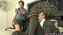 Busty secretary horny for some austrian cock