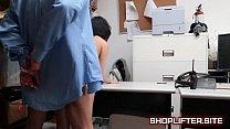 Cute Brunette Teenager Fucked On Detectives Desk