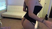 Amateur Brunette Teen Masturbates To Extreme Eye Rolling Orgasm On Webcam