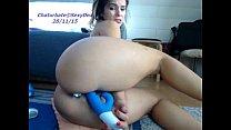 girl sexydea flashing ass on live webcam