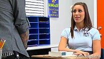 Schoolgirl pissed the teacher off