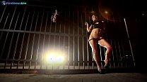 Hot European babe Sandra Romain creative tease and kinky bondage solo video