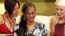Smoking hot lesbians Wanda, Simona and Nataly a...