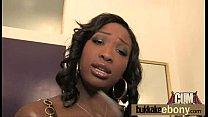 Ebony babe sucks and fucks several white dudes 2 video