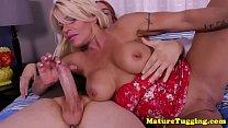 Handjob loving MILF makes cock squirt cum pornhub video