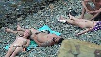 Hot european amateur nudists in this voyeur com...