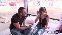 Simona Dreweova  is sucking and fucking a stranger in our FuckTruck in public - 9Club.Top