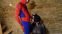 Catwoman takes spiderman´s web on her big tits Vorschaubild