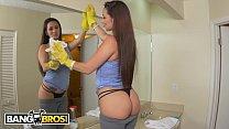 BANGBROS - Latina Maid Evie Olson Cleans The Kitchen And Jmac's Big Cock thumbnail
