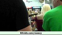 Hot teen girl let us fuck her for cash 4