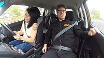 Fake Driving School Busty Blde Georgie Lyall gets customer sisfacti - 9Club.Top