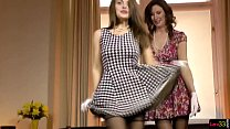 European beauty fingering sapphic MILF Thumbnail