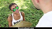 ExxxtraSmall - Petite Ebony Bounces On A Stiff ...