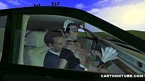 คลิปการ์ตูนเย็ดกัน สาวสวยโดนพาขึ้นรถแล้วจัดสดกันบนรถ