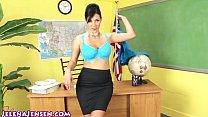 Sexy Professor Jelena Jensen Teaches a Lesson! Thumbnail