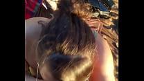 Brunette blowjob on the beach pornhub video