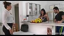 Busty tgirl maid gets her anal slammed pornhub video