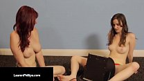 Ruby RedHead Lauren Phillips Does Sybian Dick w... thumb